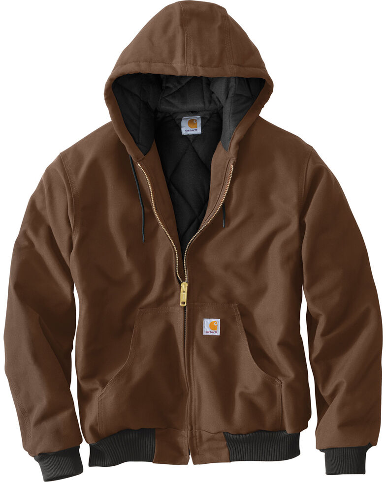 Carhartt Quilted Flannel Lined Duck Active Jacket, Chocolate, hi-res