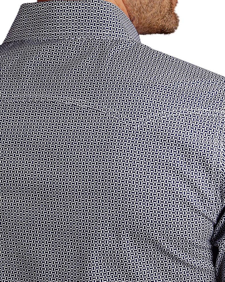 Stetson Men's Navy Micro Geo Printed Shirt , Navy, hi-res