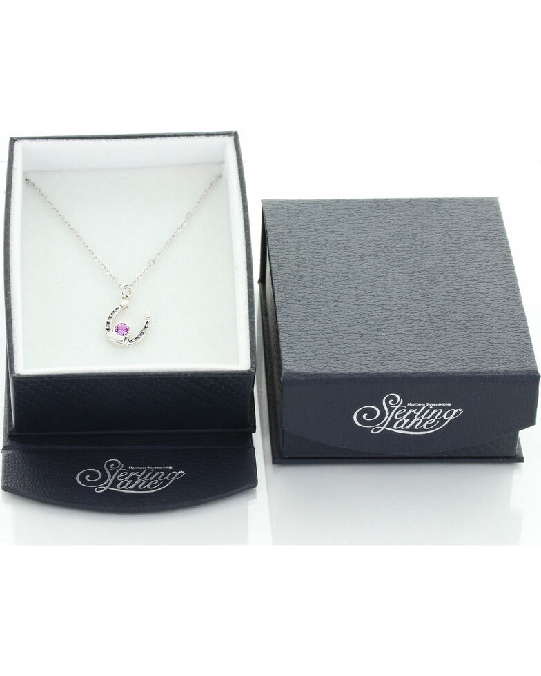Sterling Lane Women's February Birthstone Necklace , Silver, hi-res