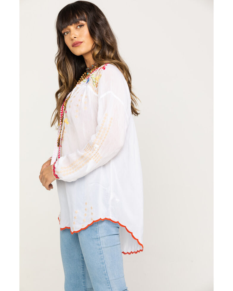 Johnny Was Women's Dragonfly Blouse, White, hi-res