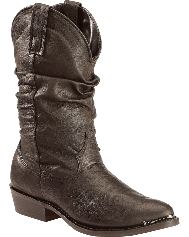 Dingo Slouch Cowboy Boots - Medium Toe, Black, hi-res