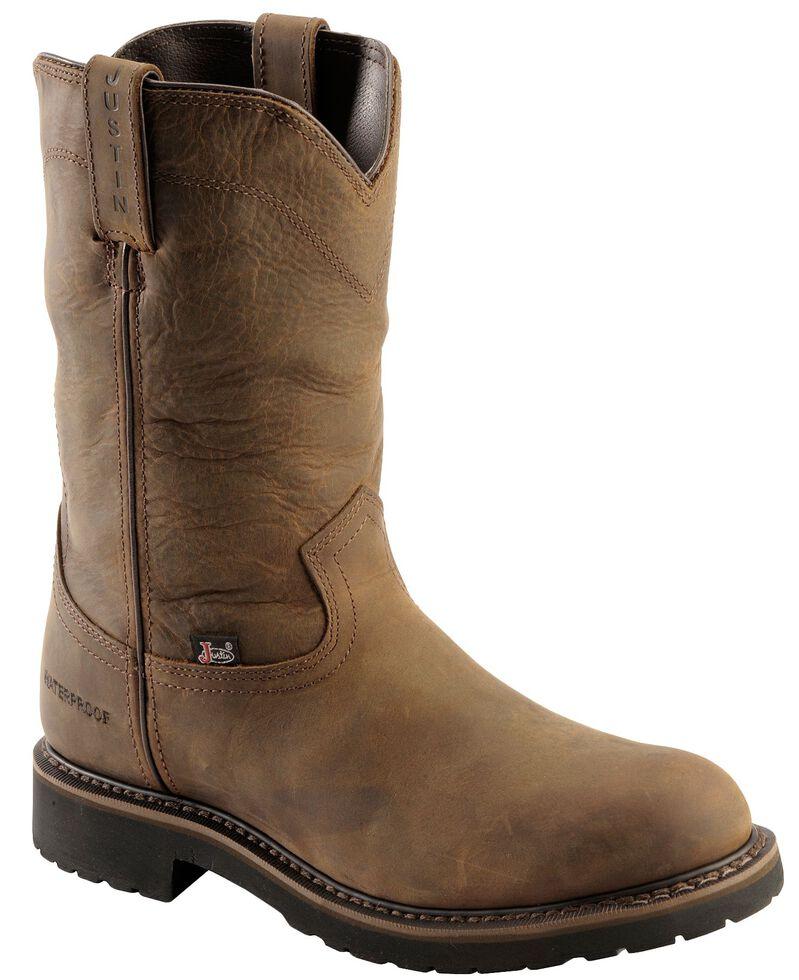 0758722e7da7 Justin Men s Drywall Waterproof Pull-On Work Boots - Soft Toe ...