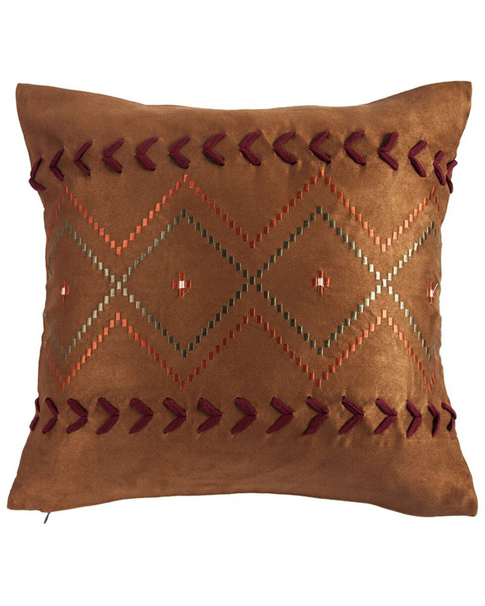 HiEnd Accents Embroidered Aztec Pillow, Multi, hi-res