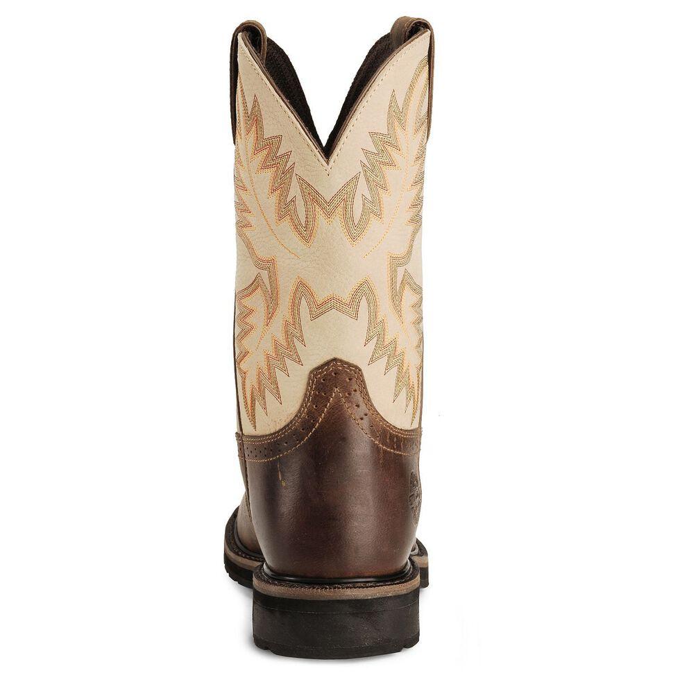 Justin Men's Stampede Superintendent Creme Waterproof Work Boots - Soft Toe, Waxed Brn, hi-res