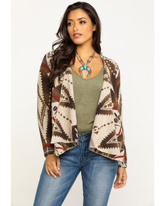 Shyanne Life Women's Aztec Fashion Jacket, Brown, hi-res