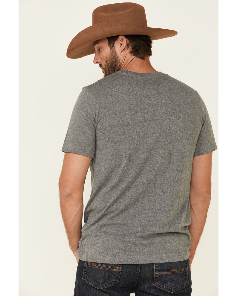 LJ Ranch Wear Men's Grey Sunrise Feed Graphic T-Shirt , Light Grey, hi-res