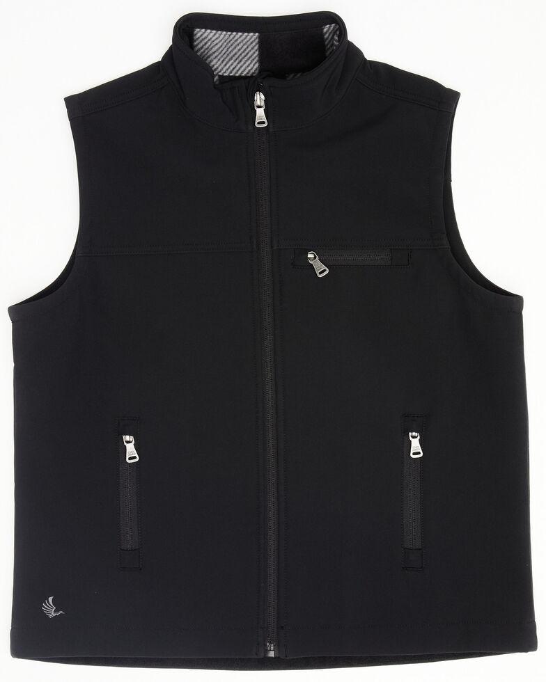 Cody James Boys' Black Wrightwood Bonded Softshell Vest , Black, hi-res