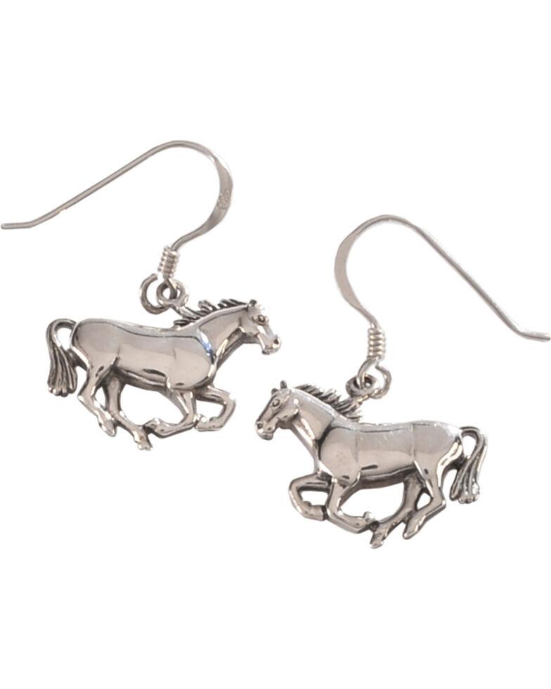 Silver Legends Women's Running Horse Sterling Silver Earrings, Silver, hi-res