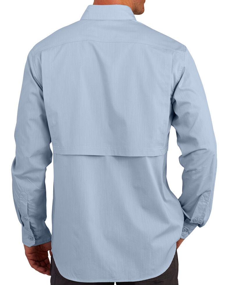 Carhartt Men's Light Blue Force Ridgefield Solid Long-Sleeve Shirt, Light Blue, hi-res