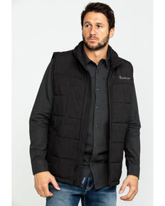 Ariat Men's Crius Zip Front Vest , Brown, hi-res