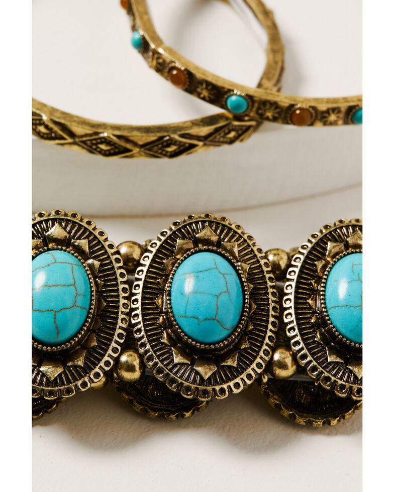 Shyanne Women's Golden Dreamcatcher Stretch Bracelet Set, Gold, hi-res