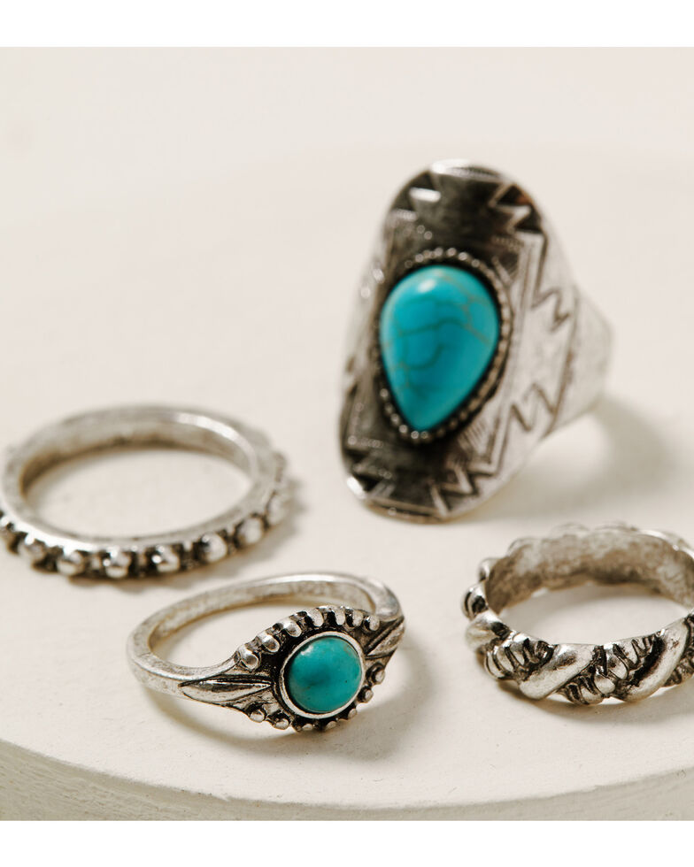 Idyllwind Women's Lay Low Ring Set, Silver, hi-res