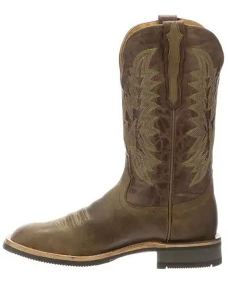 Lucchese Men's Comanche Western Boots - Wide Square Toe, Olive, hi-res