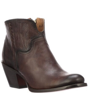 Lucchese Women's Ericka Western Booties - Round Toe, Cognac, hi-res