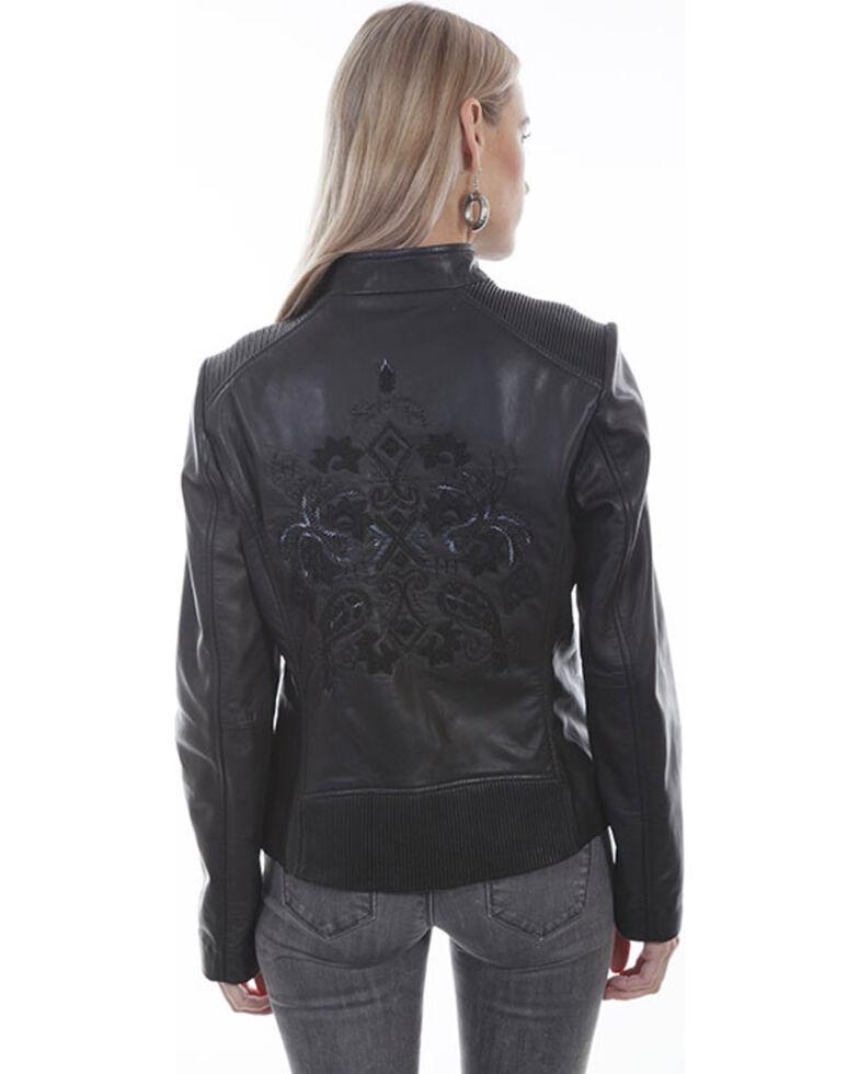 Scully Women's Fringe Western Beaded Leather Jacket, Black, hi-res