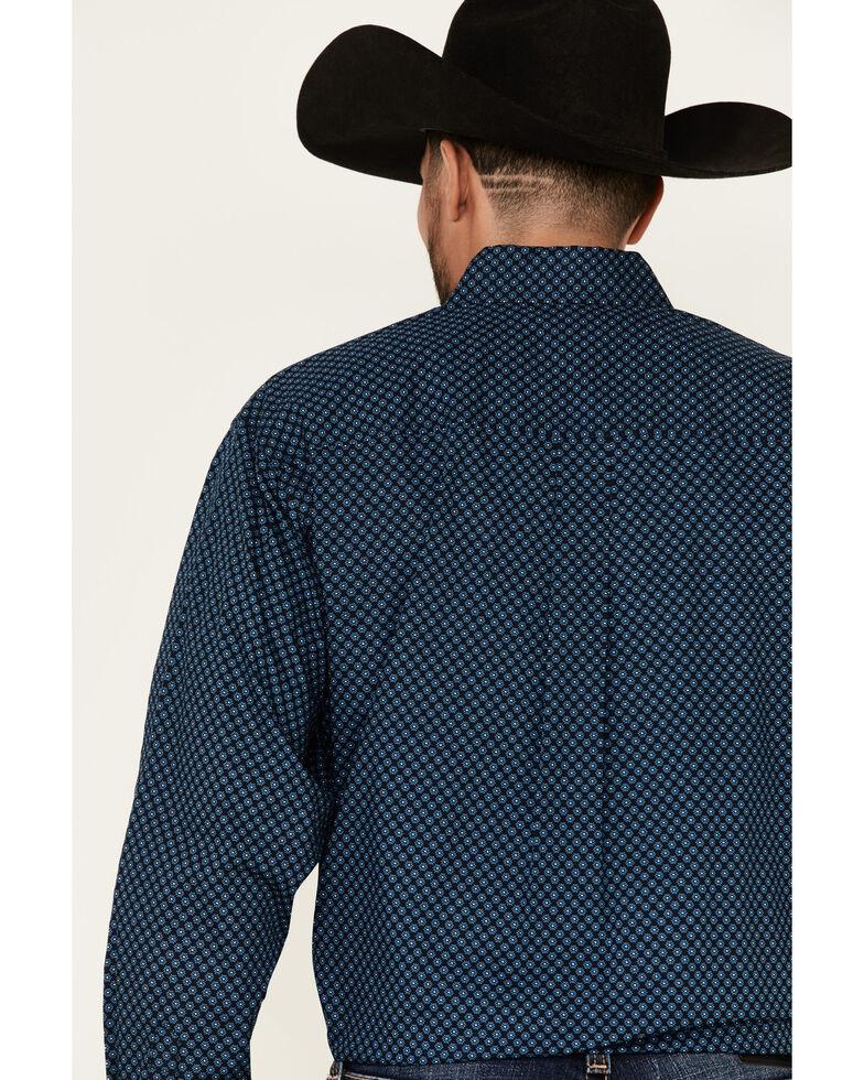 Cinch Men's Black Small Floral Geo Print Long Sleeve Western Shirt , Black, hi-res
