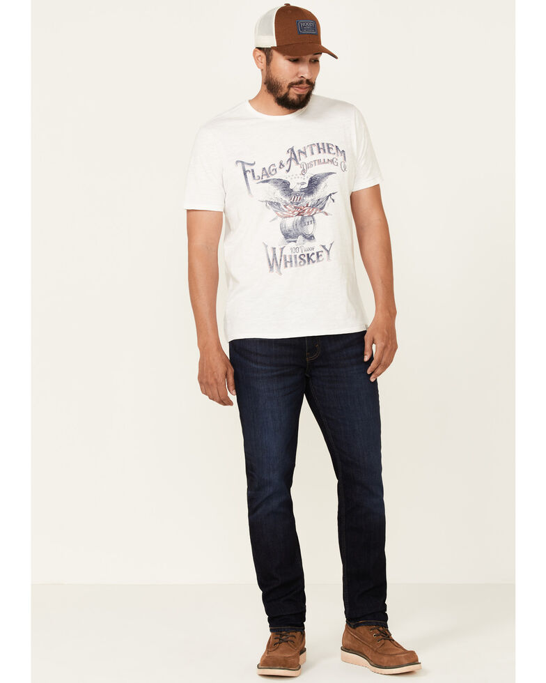 Flag & Anthem Men's White Whiskey Eagle Graphic Short Sleeve T-Shirt , White, hi-res