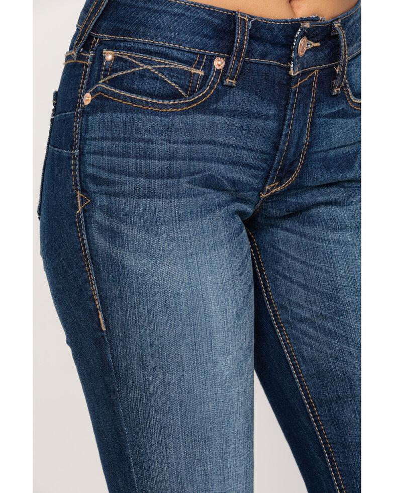 Ariat Women's Dark R.E.A.L. Bootcut Jeans , Blue, hi-res