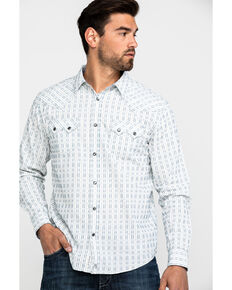 Moonshine Spirit Men's Mad Dash Dobby Solid Long Sleeve Western Shirt , White, hi-res