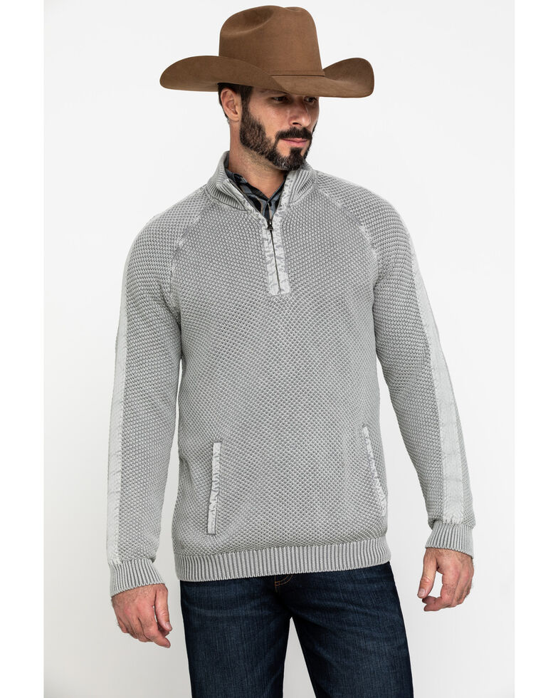Cody James Men's Frostline 1/2 Zip Textured Pullover , Grey, hi-res
