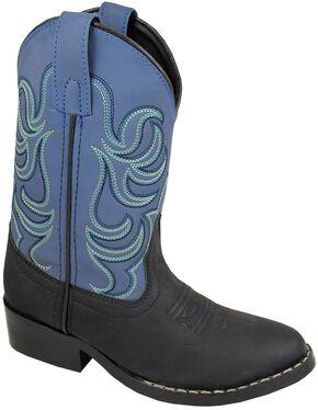 Smoky Mountain Toddler Boys' Monterey Western Boots - Round Toe, Black, hi-res