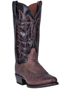 Dan Post Men's Carr Western Boots - Round Toe, Chocolate, hi-res