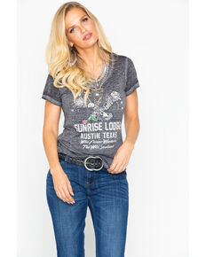 Idyllwind Women's Sunrise Lodge Trustie Tee, Black, hi-res