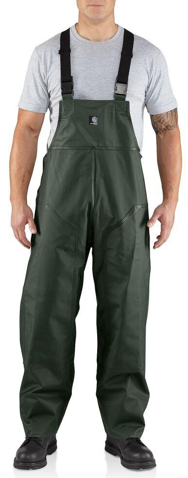 Carhartt Surry Rain Bib Overalls, Green, hi-res
