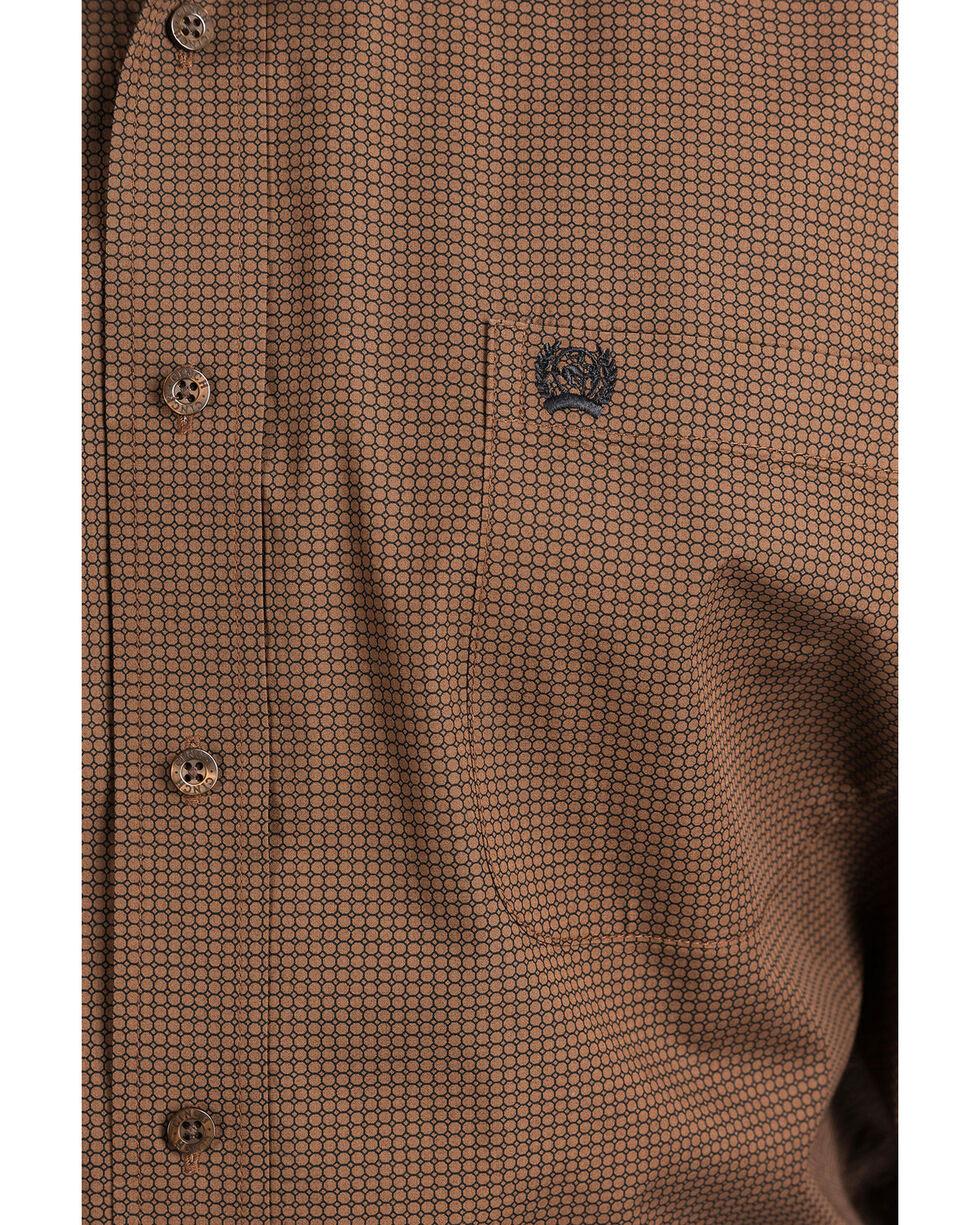 Cinch Men's Brown Geo Print Button Long Sleeve Western Shirt , Brown, hi-res