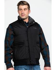 Powder River Outfitters Men's Solid Concealed Carry Vest , Black, hi-res