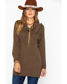Tasha Polizzi Women's Thoroughbred Tunic Sweater, Brown, hi-res
