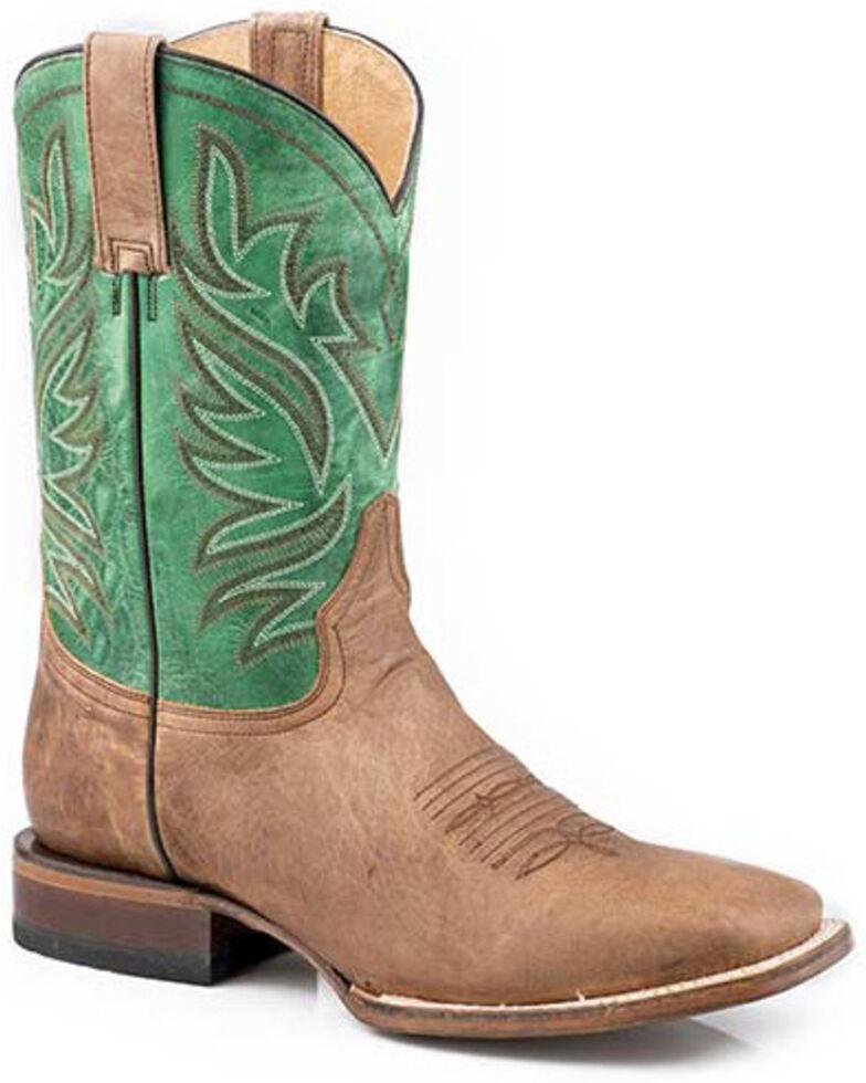 Roper Men's Tan Parker Western Boots - Square Toe, Tan, hi-res