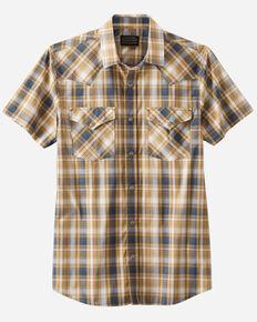 Pendleton Men's Grey Frontier Small Plaid Short Sleeve Snap Western Shirt , Multi, hi-res