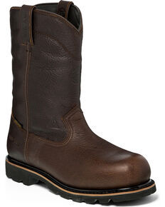 Justin Men's Miner Waterproof Insulated Work Boots - Composite Toe , Brown, hi-res
