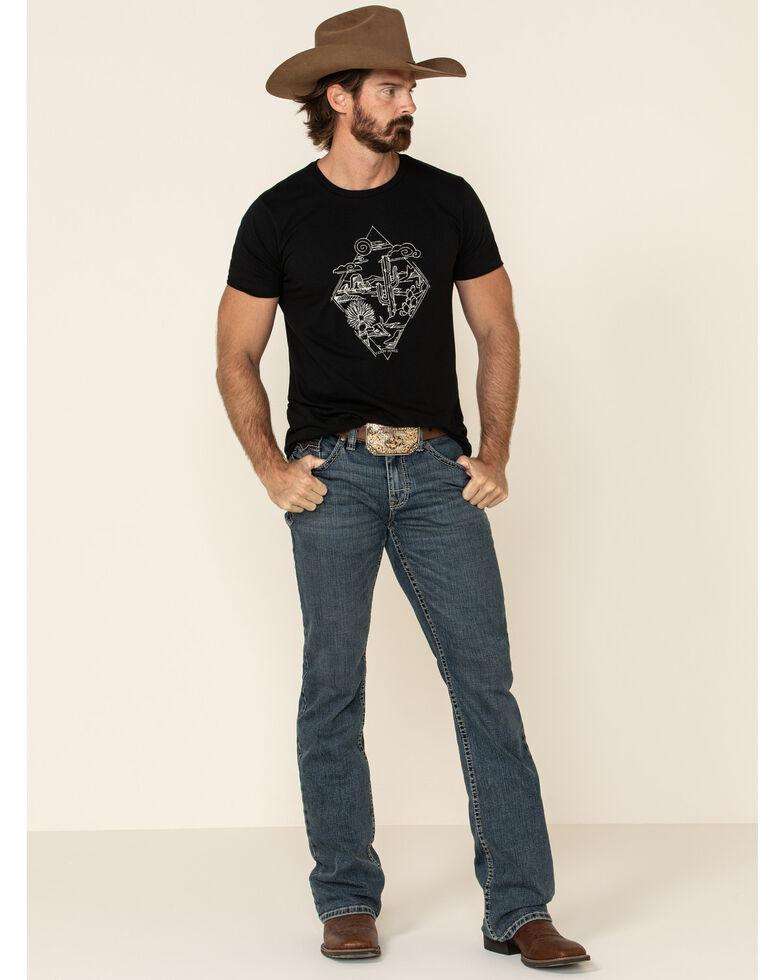 Cody James Core Men's High Roller Top Tier Stretch Slim Bootcut Jeans , Blue, hi-res
