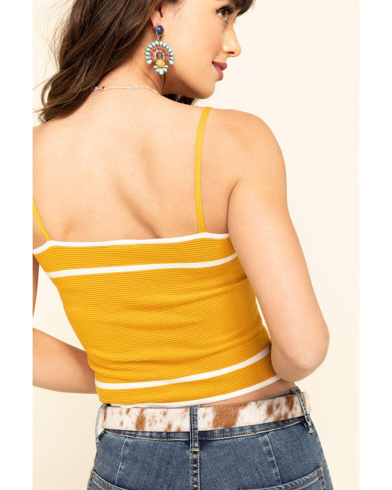 Others Follow Women's Ribbed Perkins Stripe Cami, Dark Yellow, hi-res