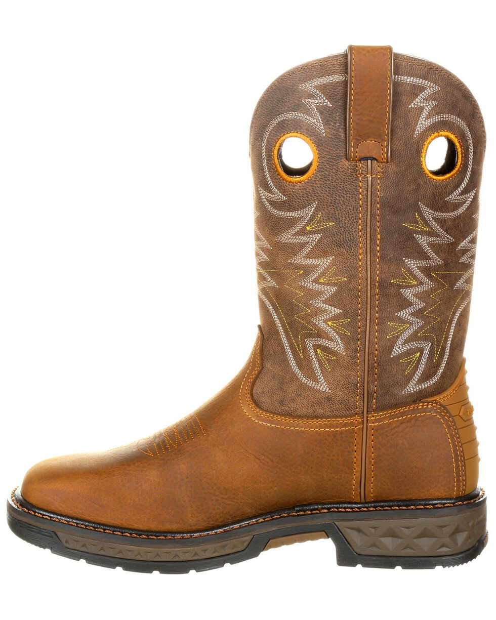 Georgia Boot Men's Carbo-Tec Western Work Boots - Square Toe, Brown, hi-res