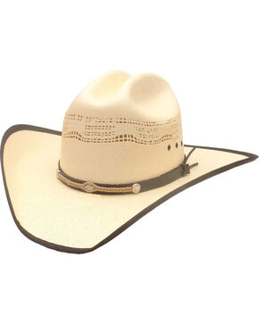Bangora by Western Express Men's Leather & Rope Band Hat , White, hi-res
