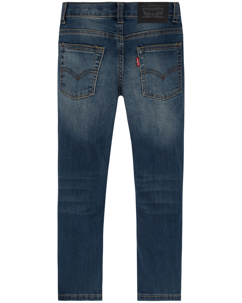 Levi's Boys' 511 Blue Evans Faded Washed Slim Straight Jeans , Dark Blue, hi-res