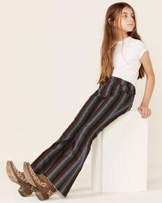 Rock & Roll Denim Girls' Olive & Black Stripe Stretch Trouser Jeans , Multi, hi-res