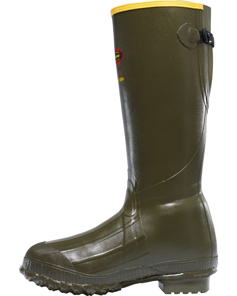 """LaCrosse Men's Bruly Trac-lite 18"""" Hunting Boots - Round Toe, Dark Green, hi-res"""