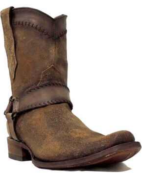 Corral Men's Cognac Harness Ankle Boots - Snip Toe, Cognac, hi-res