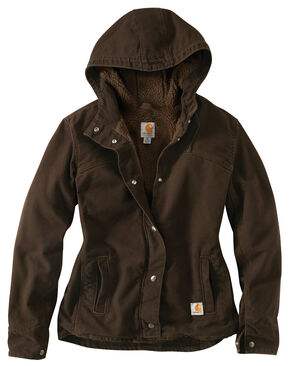Carhartt Women's Sandstone Berkley Jacket, Dark Brown, hi-res