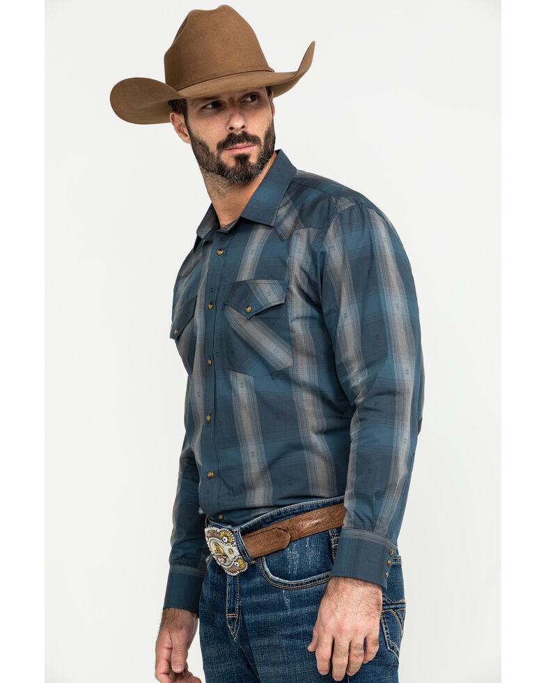Pendleton Men's Blue Frontier Large Plaid Long Sleeve Western Shirt , Blue, hi-res