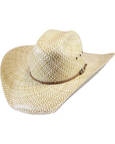 Justin Men's Tan Bent Rail Brawley Straw Cowboy Hat , Tan, hi-res