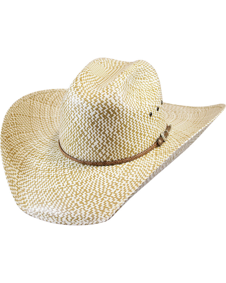 Justin Men's Tan Bent Rail Brawley Straw Cowboy Hat , Tan, hi-res