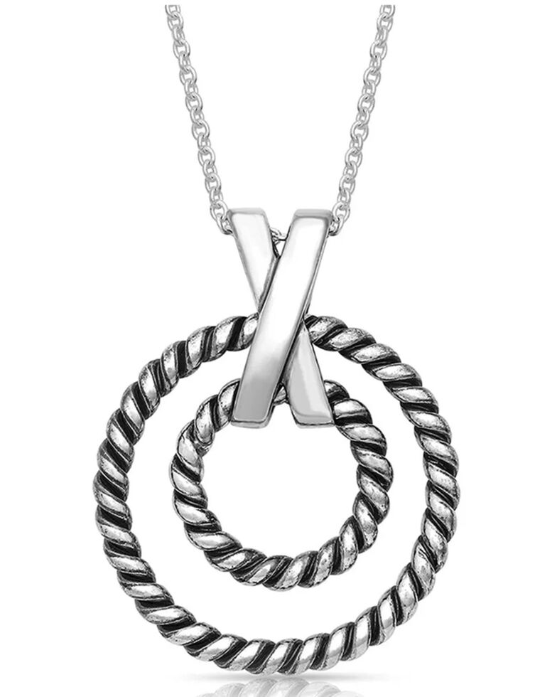 Montana Silversmiths Women's Topped With A Kiss Rope Necklace, Silver, hi-res