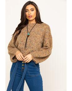 En Creme Women's Color Dots Pullover Sweater, Tan, hi-res