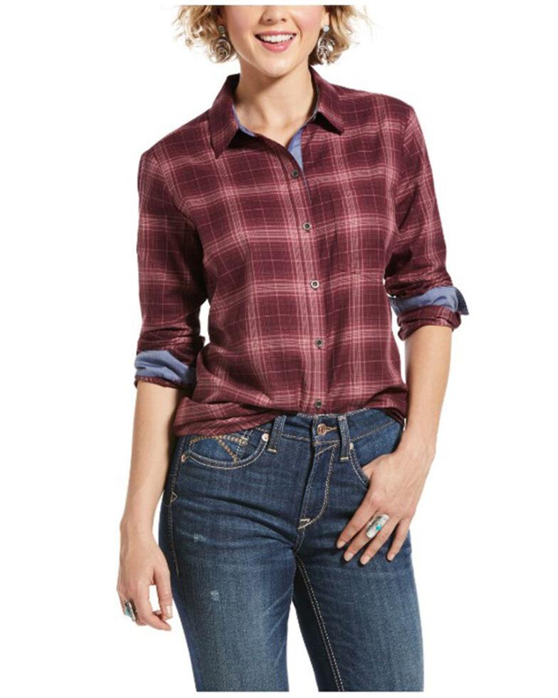 Ariat Women's Day Dream Multi Plaid Long Sleeve Western Shirt , Multi, hi-res