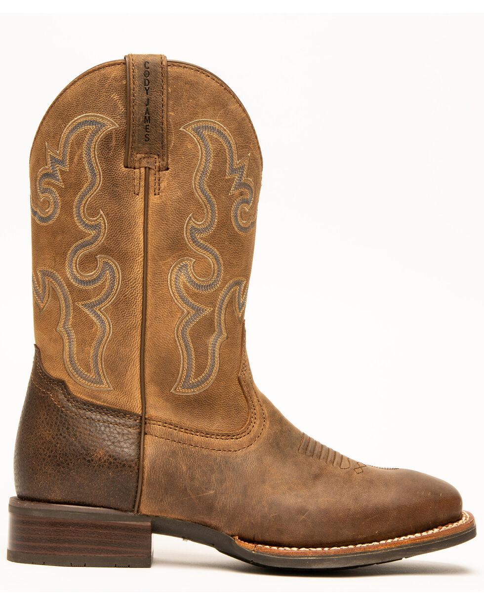 Cody James Men's Xero Gravity Western Boots - Wide Square Toe, Brown, hi-res